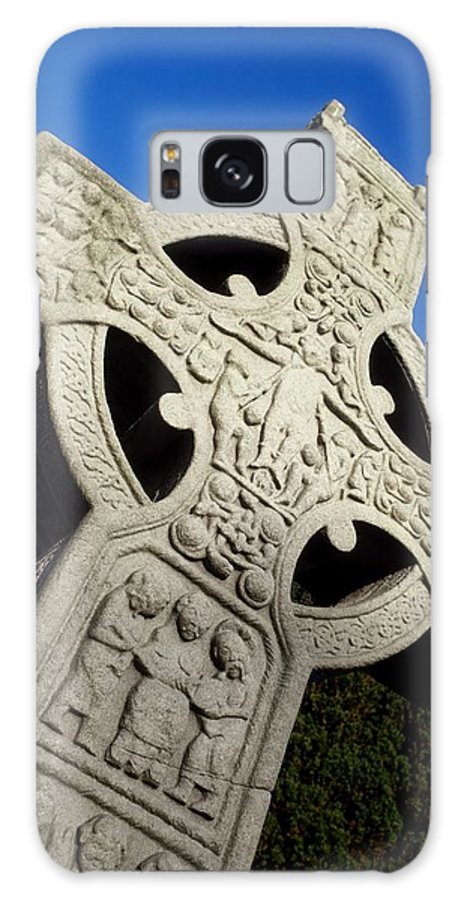 Close Up Galaxy S8 Case featuring the photograph High Cross, Monasterboice, Co Louth by The Irish Image Collection