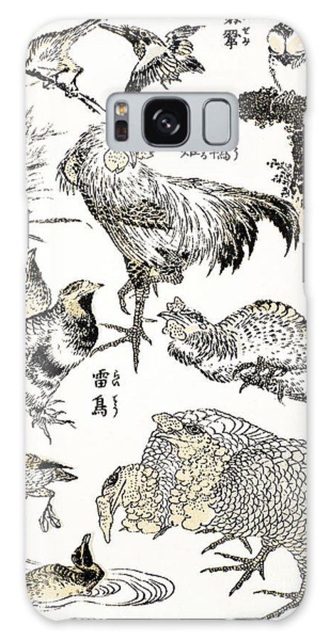 19th Century Galaxy S8 Case featuring the photograph Hokusai: Birds by Granger