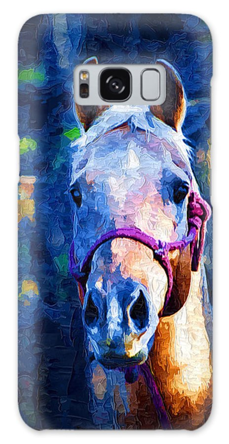 Horse Galaxy S8 Case featuring the painting Horse Beautiful by Kathy Clark