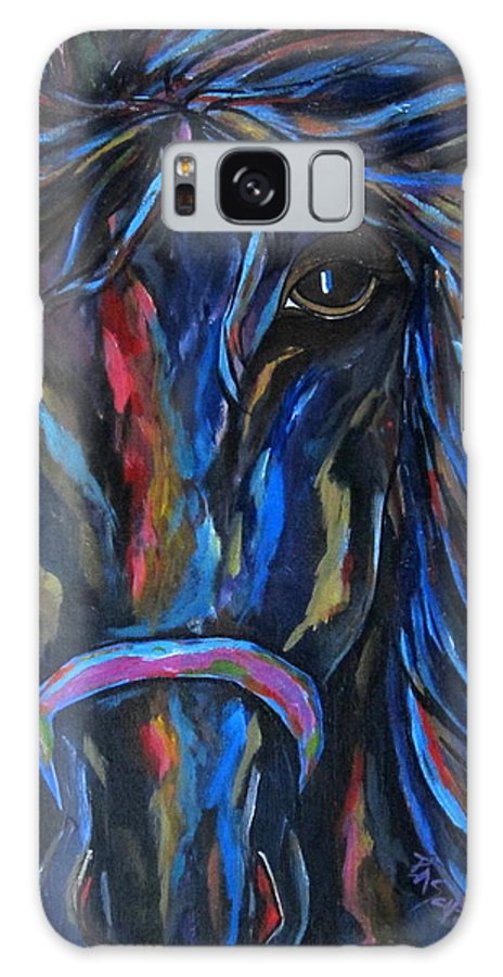 Horse Galaxy S8 Case featuring the painting Horse In Contrast by Patti Schermerhorn