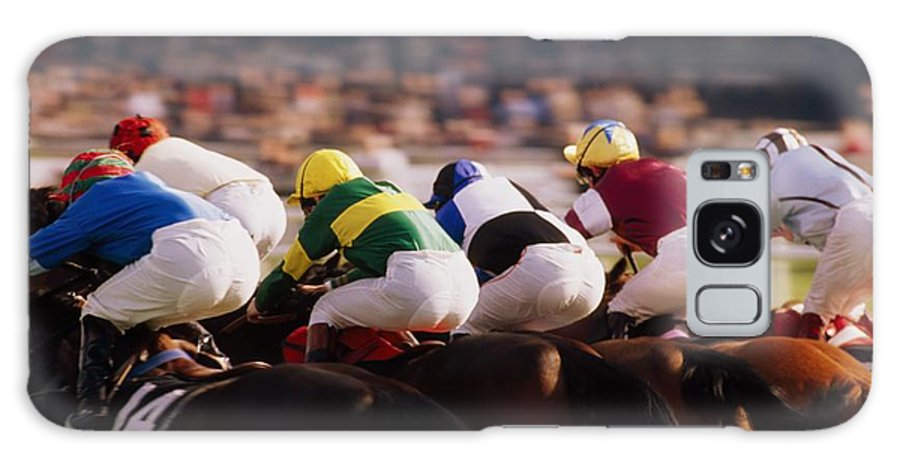 Background People Galaxy S8 Case featuring the photograph Horse Racing, Phoenix Park, Dublin by The Irish Image Collection