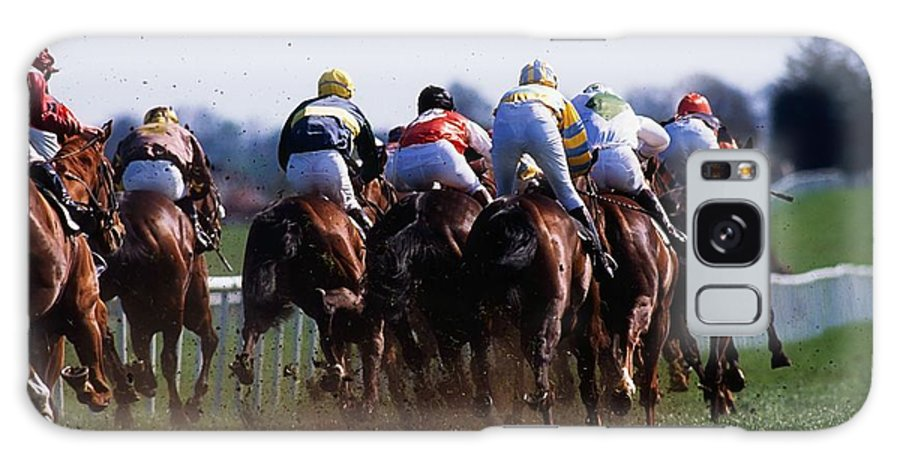 Outdoors Galaxy S8 Case featuring the photograph Horse Racing Rear View Of Horses Racing by The Irish Image Collection