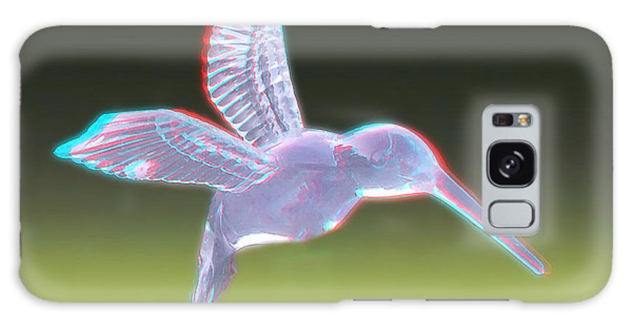 3d Galaxy S8 Case featuring the photograph Hummingbird - Use Red-cyan 3d Glasses by Brian Wallace