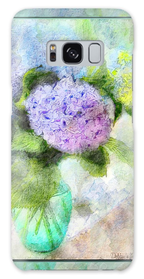 Nature Galaxy S8 Case featuring the photograph Hydrangea Art Greeting Card by Debbie Portwood