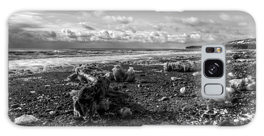 Monocrome Galaxy S8 Case featuring the photograph Icy Alaskan Beach by Michele Cornelius