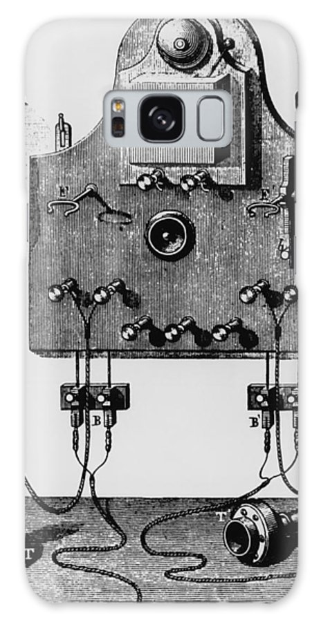 19th Century Communications Galaxy S8 Case featuring the photograph Illustration Of The Bell Telephone by Dr Jeremy Burgess