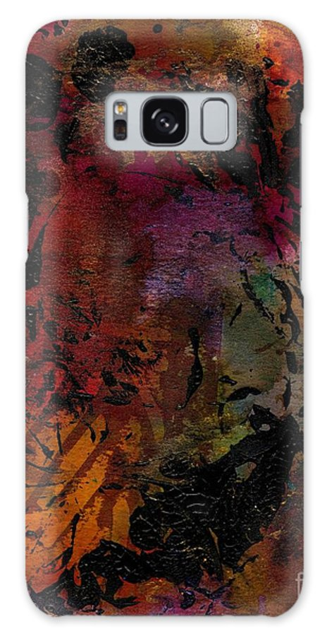 Acrylic Galaxy S8 Case featuring the painting Imagining The Orient I by Angela L Walker