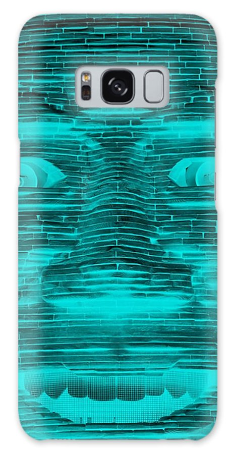 Architecture Galaxy S8 Case featuring the photograph In Your Face In Neagtive Turquois by Rob Hans