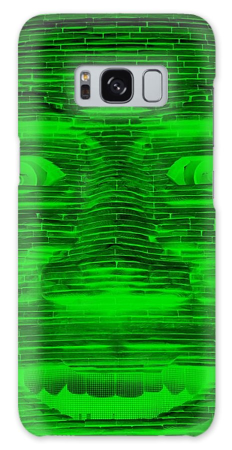 Architecture Galaxy S8 Case featuring the photograph In Your Face In Negative Green by Rob Hans