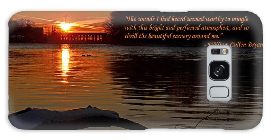 Color Photography Galaxy S8 Case featuring the photograph Inspirational Sunset With Quote by Sue Stefanowicz
