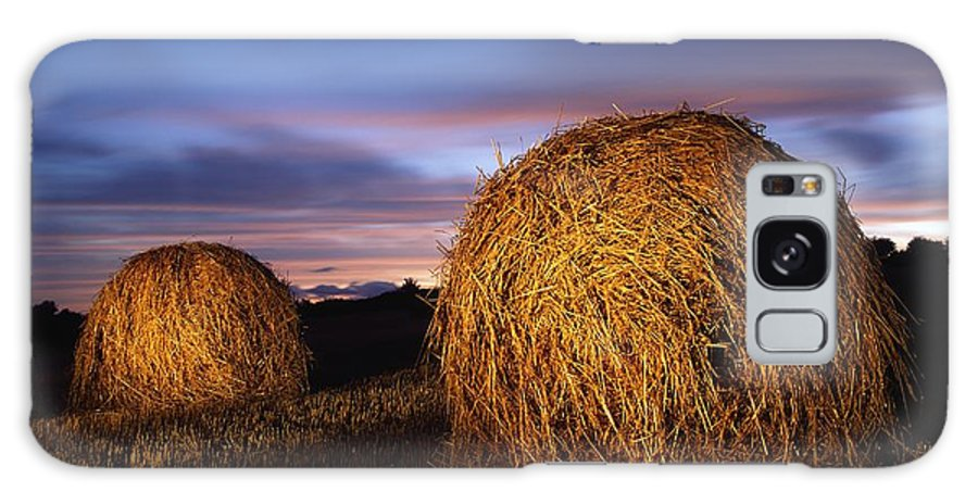 Hay Bale Galaxy S8 Case featuring the photograph Ireland Hay Bales by Richard Cummins