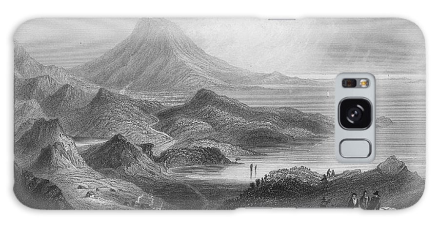 1840 Galaxy S8 Case featuring the photograph Ireland: Lough Conn, C1840 by Granger