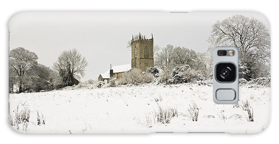 Cathedral Galaxy S8 Case featuring the photograph Ireland Winter Landscape With Church by Peter McCabe