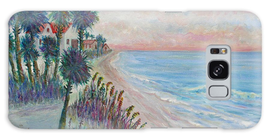 Seascape Galaxy Case featuring the painting Isle of Palms by Ben Kiger