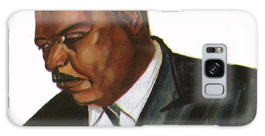 Portraits Galaxy S8 Case featuring the painting Issa Hayatou by Emmanuel Baliyanga