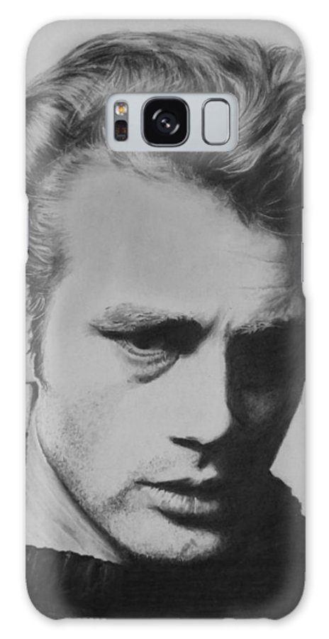 James Dean Galaxy S8 Case featuring the drawing James Dean by Mike OConnell