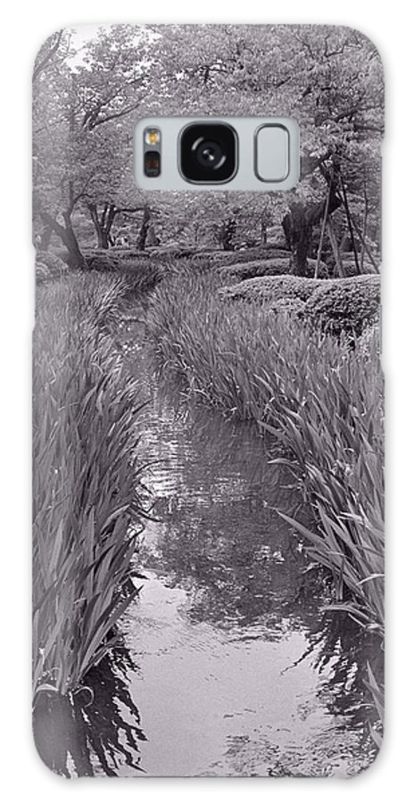 Peaceful Galaxy S8 Case featuring the photograph Japanese Garden With Irises by Julie VanDore