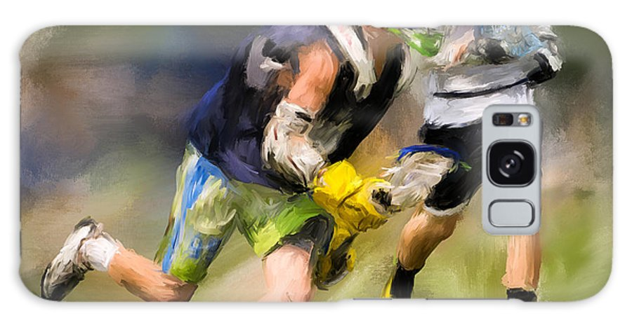 Lacrosse Galaxy S8 Case featuring the painting Jaxx Lacrosse 1 by Scott Melby