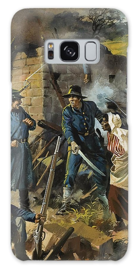 Abolitionist Galaxy S8 Case featuring the painting John Brown On 30 August 1856 Intercepting A Body Of Pro-slavery Men by Andrew Howart