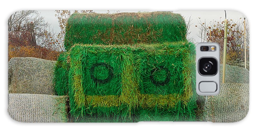 Usa Galaxy S8 Case featuring the photograph John Deer Made Of Hay by LeeAnn McLaneGoetz McLaneGoetzStudioLLCcom
