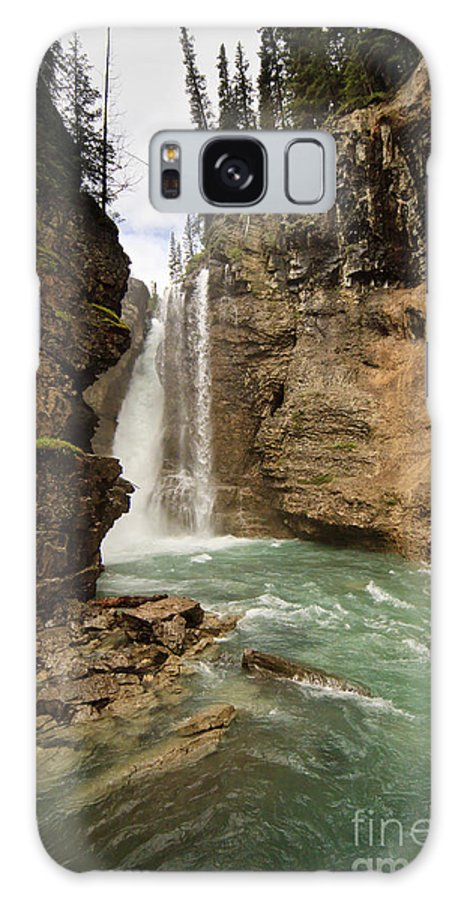 Johnston Canyon Galaxy S8 Case featuring the photograph Johnston Canyon Falls by Dennis Hedberg