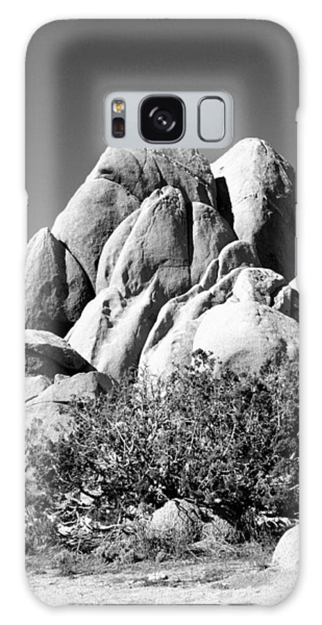 Joshua Tree Galaxy S8 Case featuring the photograph Joshua Tree Center Bw by William Dey