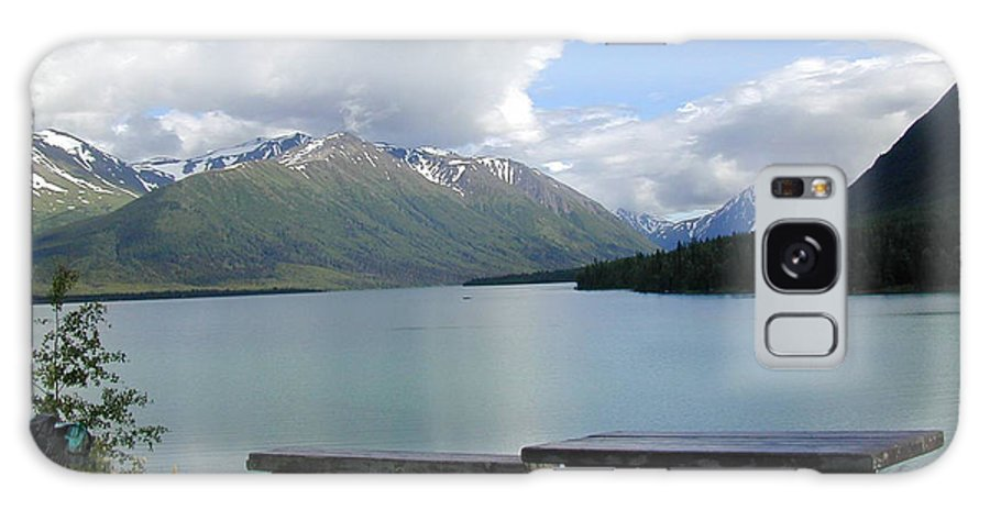 Blue Galaxy S8 Case featuring the photograph Kenai Lake by Peggy Starks