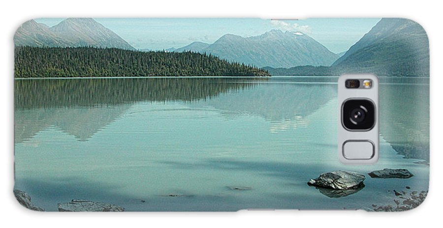 Blue Galaxy S8 Case featuring the photograph Kenai Lake Reflections by Peggy Starks