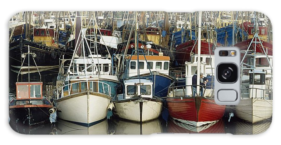 Flat Galaxy S8 Case featuring the photograph Kilkeel, Co Down, Ireland Rows Of Boats by The Irish Image Collection