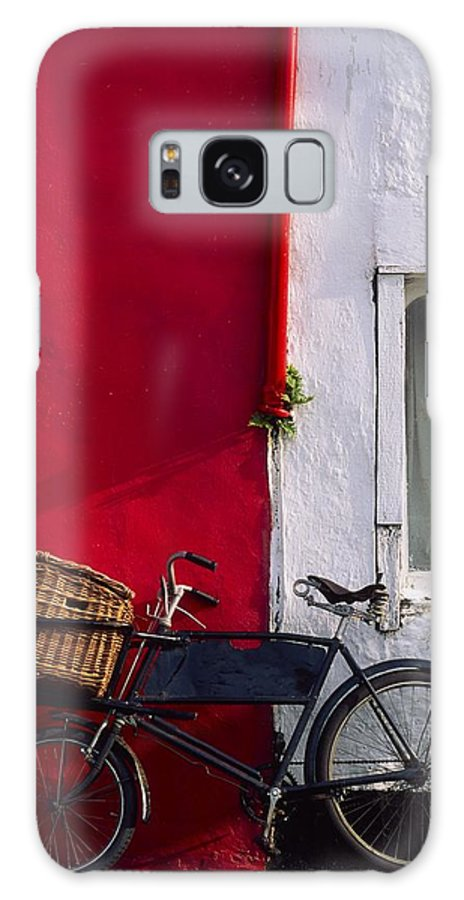 Bicycle Galaxy S8 Case featuring the photograph Kinsale, Co Cork, Ireland Bicycle by The Irish Image Collection