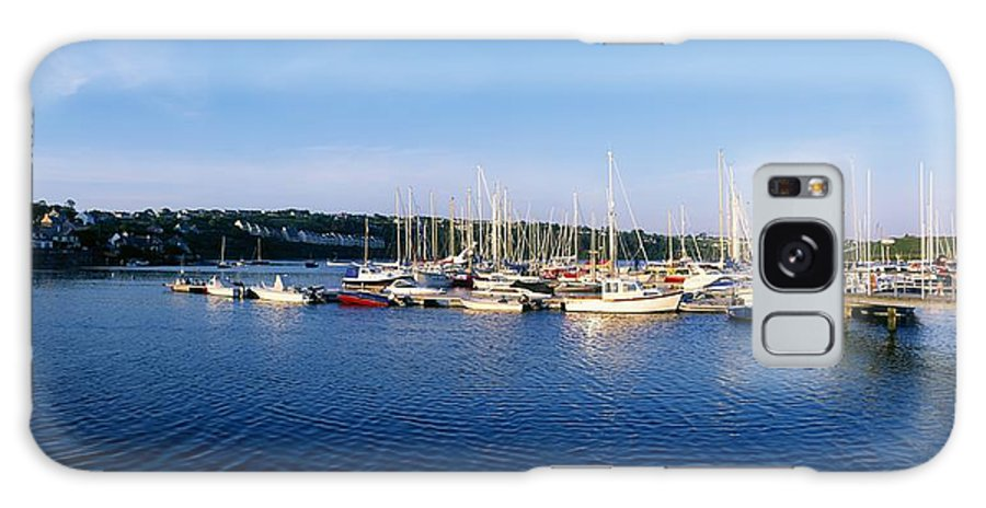 Blue Sky Galaxy S8 Case featuring the photograph Kinsale, Co Cork, Ireland Moored Boats by The Irish Image Collection