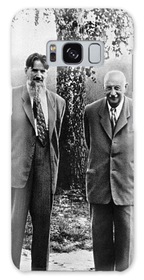 Igor Kurchatov Galaxy S8 Case featuring the photograph Kurchatov And Ioffe, Soviet Physicists by Ria Novosti