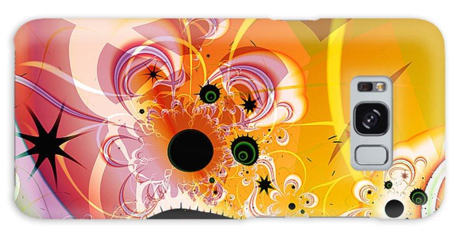 Fractal Art Galaxy Case featuring the digital art La Lutte contre le Mal by Frederic Durville