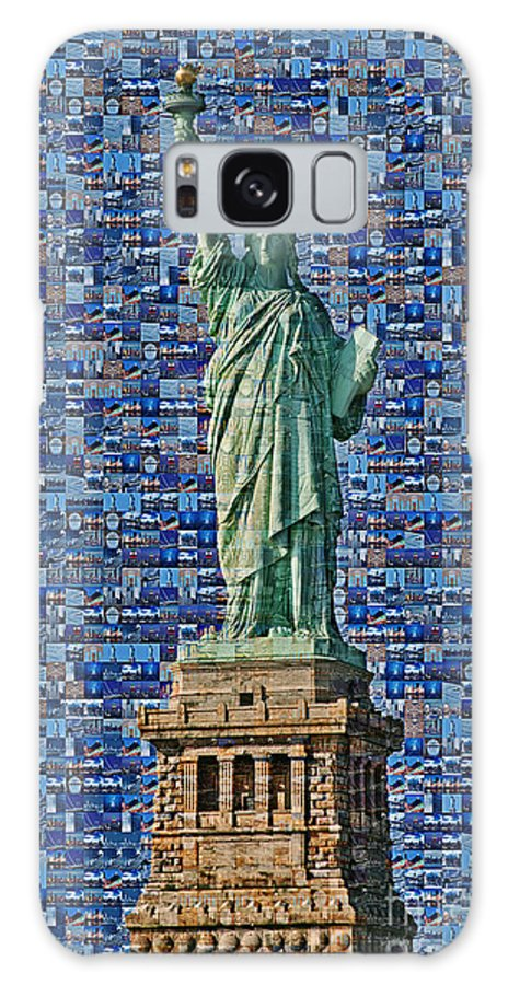 Statue Of Liberty Galaxy S8 Case featuring the photograph Lady Liberty Mosaic by Susan Candelario