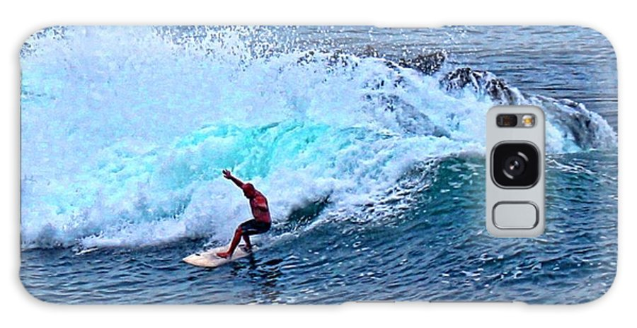 Surfer Galaxy S8 Case featuring the photograph Laguna Surfer by Tommy Anderson
