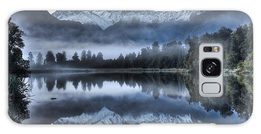 00446712 Galaxy S8 Case featuring the photograph Lake Matheson In Predawn Winter Light by Colin Monteath
