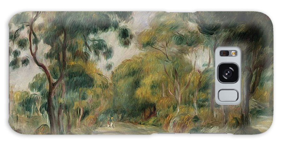 Landscape At Noon Galaxy S8 Case featuring the painting Landscape At Noon by Pierre Auguste Renoir