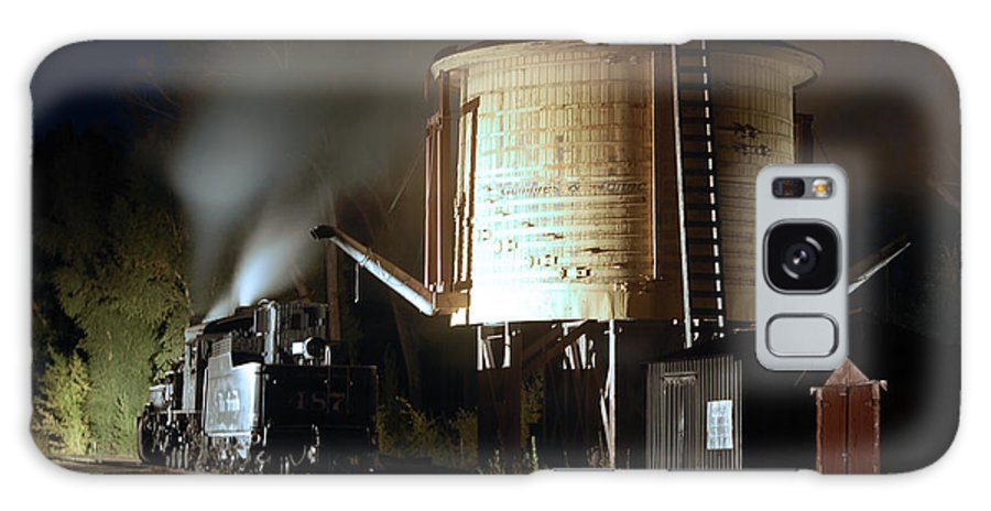 Steam Train Photographs Galaxy S8 Case featuring the photograph Late Night Drink by Ken Smith