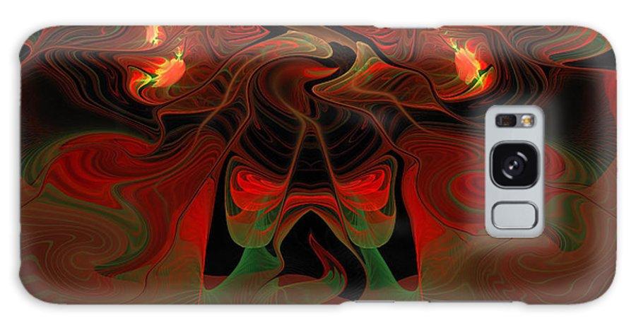 Lava Galaxy S8 Case featuring the digital art Red Hot Lava by Georgiana Romanovna