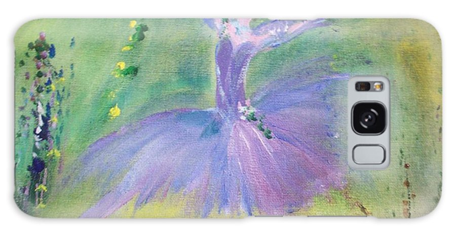 Lavender Galaxy S8 Case featuring the painting Lavender Ballerina by Judith Desrosiers