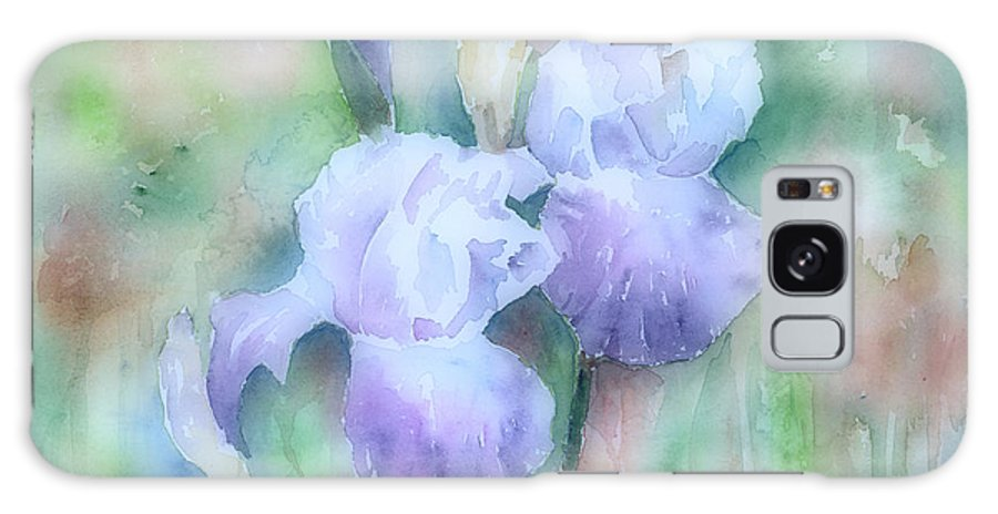 Iris Galaxy S8 Case featuring the painting Lavender Iris by Arline Wagner