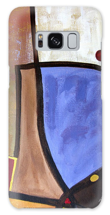 Abstract Galaxy S8 Case featuring the painting Lazy Days II by Ruth Palmer
