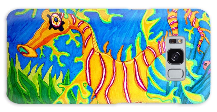 Leafy Sea Dragon Galaxy S8 Case featuring the drawing Leafy Sea Dragon by Nick Gustafson