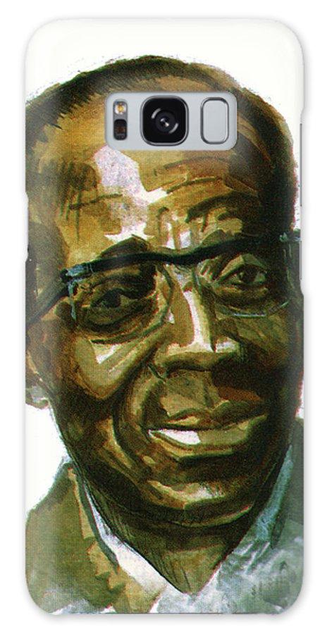 Portraits Galaxy S8 Case featuring the painting Leopold Sedar Senghor by Emmanuel Baliyanga
