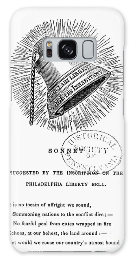 1830s Galaxy S8 Case featuring the photograph Liberty Bell, 1839 by Granger