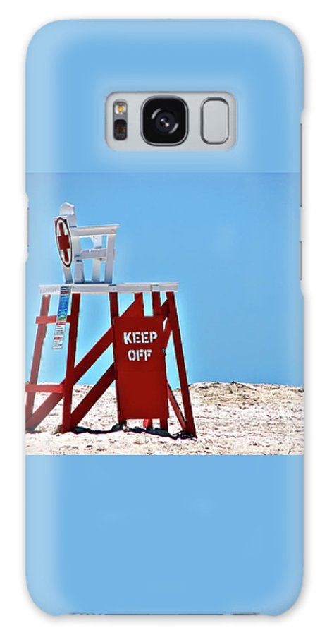 Lifeguard Galaxy S8 Case featuring the photograph Life Guard Stand by Carolyn Marshall
