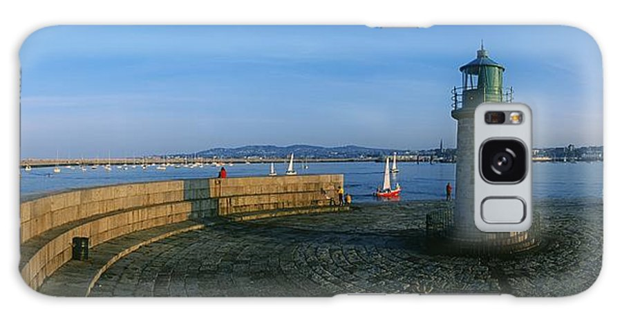 Building Exterior Galaxy S8 Case featuring the photograph Light House At A Harbor, County Dublin by The Irish Image Collection