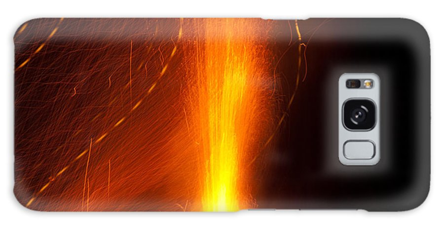Light Galaxy S8 Case featuring the photograph Light Waves Dancing Around The Flames Of A Fire Cracker by Ashish Agarwal