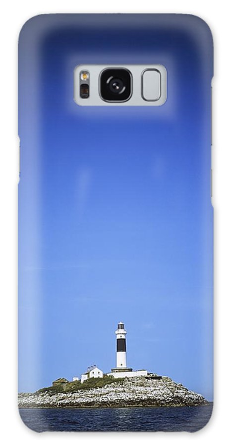 Blue Galaxy S8 Case featuring the photograph Lighthouse In The Sea, Rockabill by The Irish Image Collection