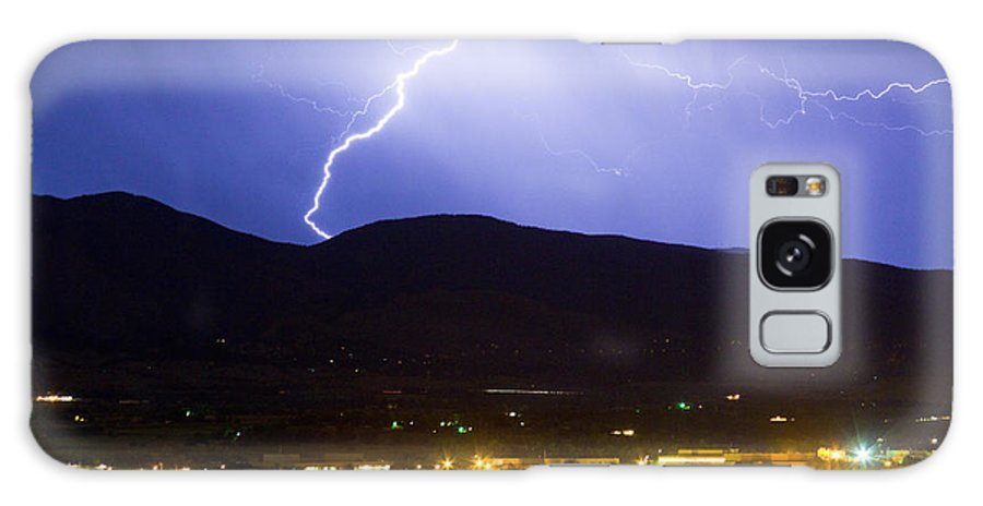 decorative Canvas Prints Galaxy S8 Case featuring the photograph Lightning Striking Over Ibm Boulder Co 1 by James BO Insogna